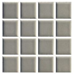 Ceramic Pool Gloss Steel Grey Mosaic