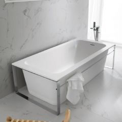 MODUL KRION White Bathtub with inox steel frame