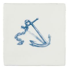 Winchester Residence Anchor Blue on Papyrus 13 x 13cm
