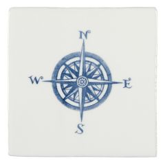Winchester Residence Compass Blue on Papyrus 13 x 13cm