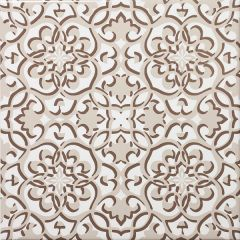 Zagora Cream Floral Decor Tile 20 x 20cm