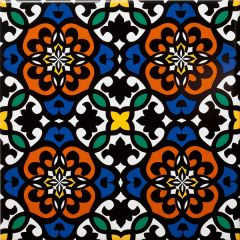 Zagora Multicolour Floral Decor Tile 20 x 20cm