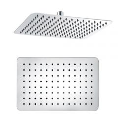 """Stainless Steel 8"""" x 12"""" Rectangle shower head"""