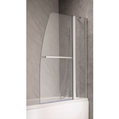Ascent Double Curved Luxury Bath Screen 1400 x 1100mm