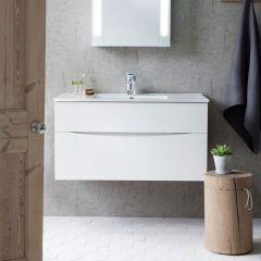 Crosswater Glide 100 Basin (pictured with Glide II 1000 Unit - not included)