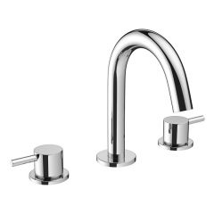 Crosswater Mike Pro Deck Mounted Basin Tap 3 Hole Set CHROME
