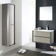 Porcelanosa Folk Wall Mounted Tall Cabinet (pictured with Ice front)