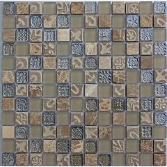 Lux Sand Mixed Mosaic Tile