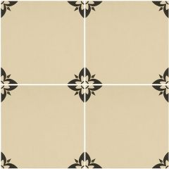 Odyssey Empire Black on White Tiles, pattern repeat