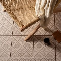 Odyssey Leigh Taupe on Chalk Tiles