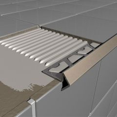 Stainless Steel Step Profile Tile Trim 2.5m