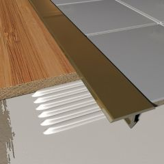 T Shaped Cover Strip Brass 2.5m