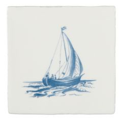 Winchester Residence Yawl Blue on Papyrus 13 x 13cm