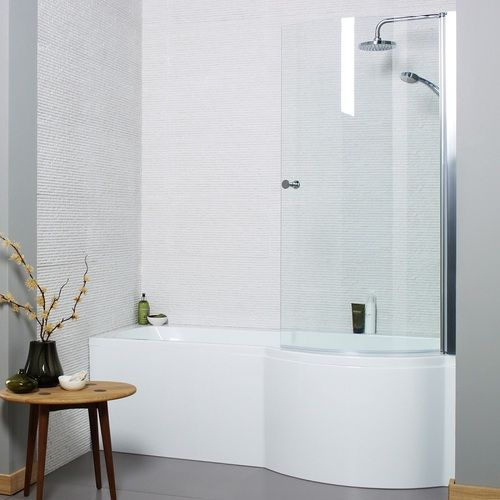 Adapt P Shaped Shower Bath Package 1700 X 850mm Tiles And
