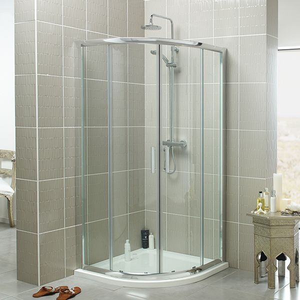CHROME KONCEPT SLIDING SHOWER DOOR AVAILABLE IN SIX DIFFERENT SIZES