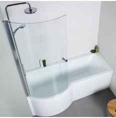 Adapt P Shaped Shower Bath Package - left hand