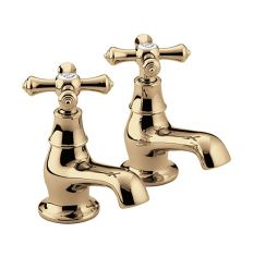 Bristan Colonial Basin Taps (Pair) Gold