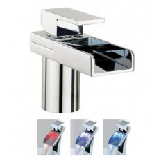 Crosswater Water Square Lights Basin Monobloc Tap