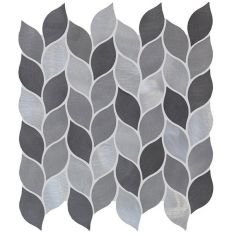 Original Style Leaf Grey Silver Mix Mosaic 28 x 27.5cm