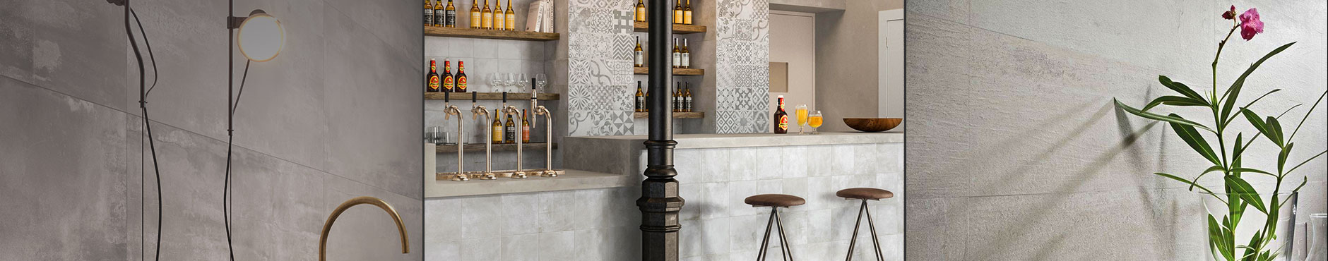 Concrete effect wall & floor tiles