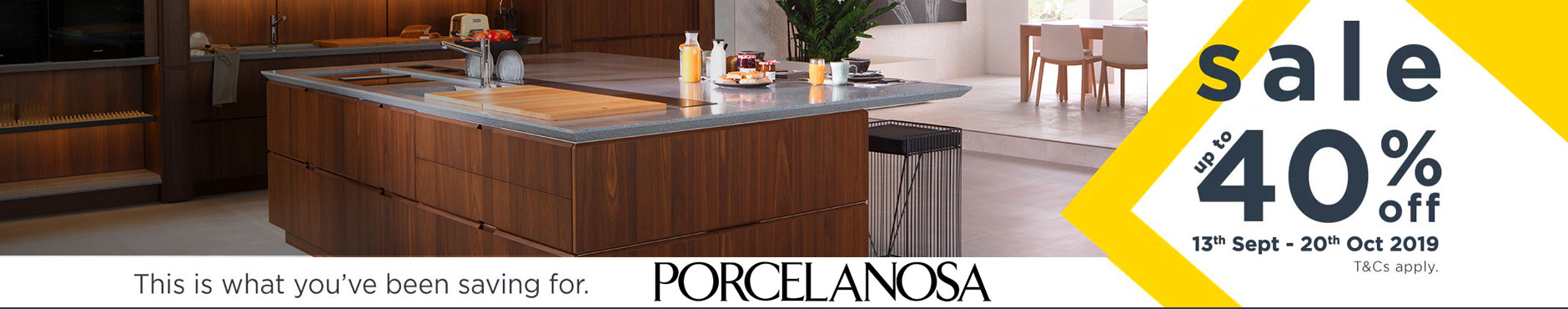 Porcelanosa Sale 13th Sept - 20th Oct 2019