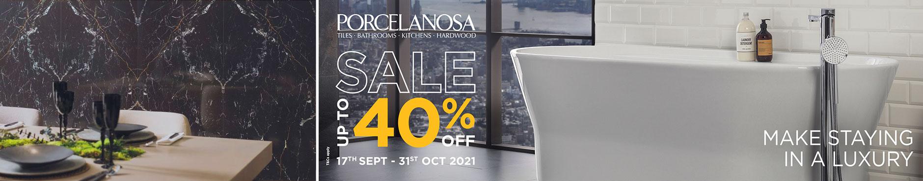 Porcelanosa Sale: 17th Sept - 31st Oct 2021