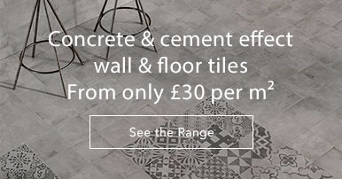 Concrete & cement effect tiles
