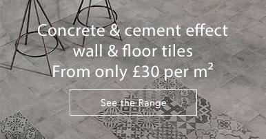 Concrete & cement effect tiles