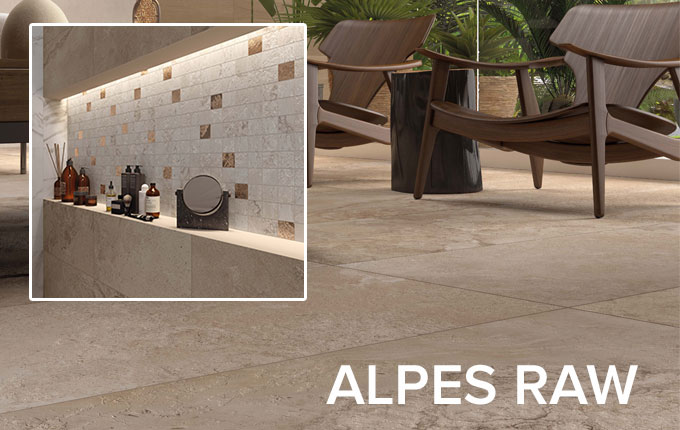 Alpes Raw tile collection by ABK