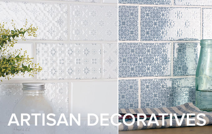 Artisan decorative tile collection by Winchester Tiles