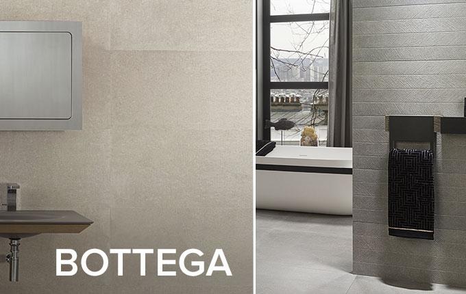 Bottega cement effect tile collection by Porcelanosa