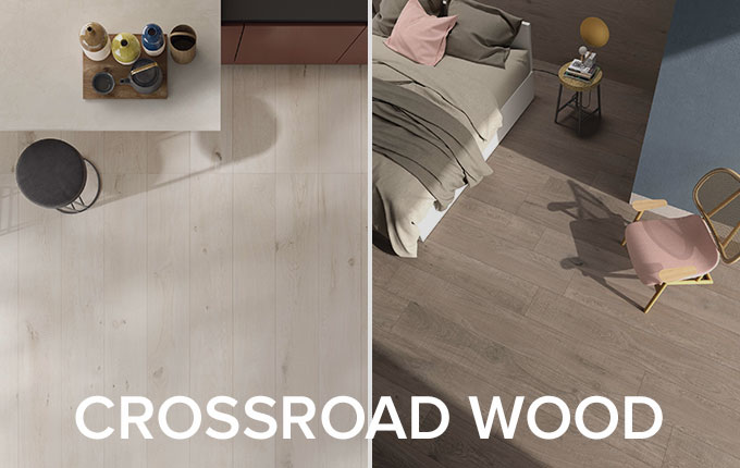 Crossroad Wood tile collection by ABK