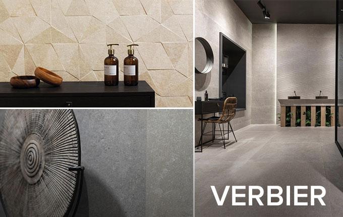 Porcelanosa Verbier stone effect tile collection